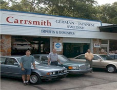 Picture of the Gainesville shop of Carrsmith Auto Repair